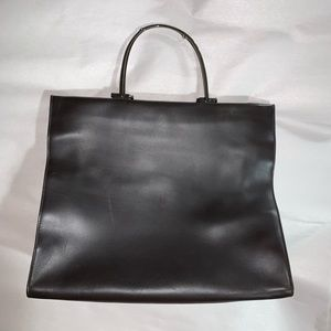 authentic GUCCI chocolate leather business TOTE